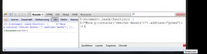 JavaScript via Firebug ausführen