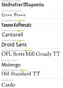 Google Font Directory